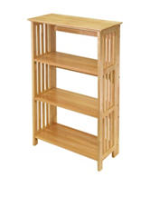 Winsome 4-Tier Natural Wood Mission Shelf