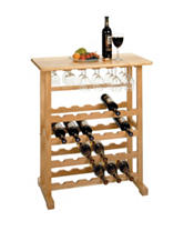 Winsome 24-Bottle Wine & Glass Rack