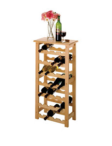 Winsome 28-Bottle Natural Finish Wine Rack
