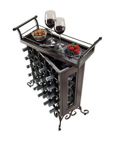 Winsome Silvano 25-Bottle Wine Rack with Removable Tray