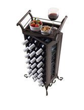 Winsome Silvano 21-Bottle Wine Rack with Removable Tray