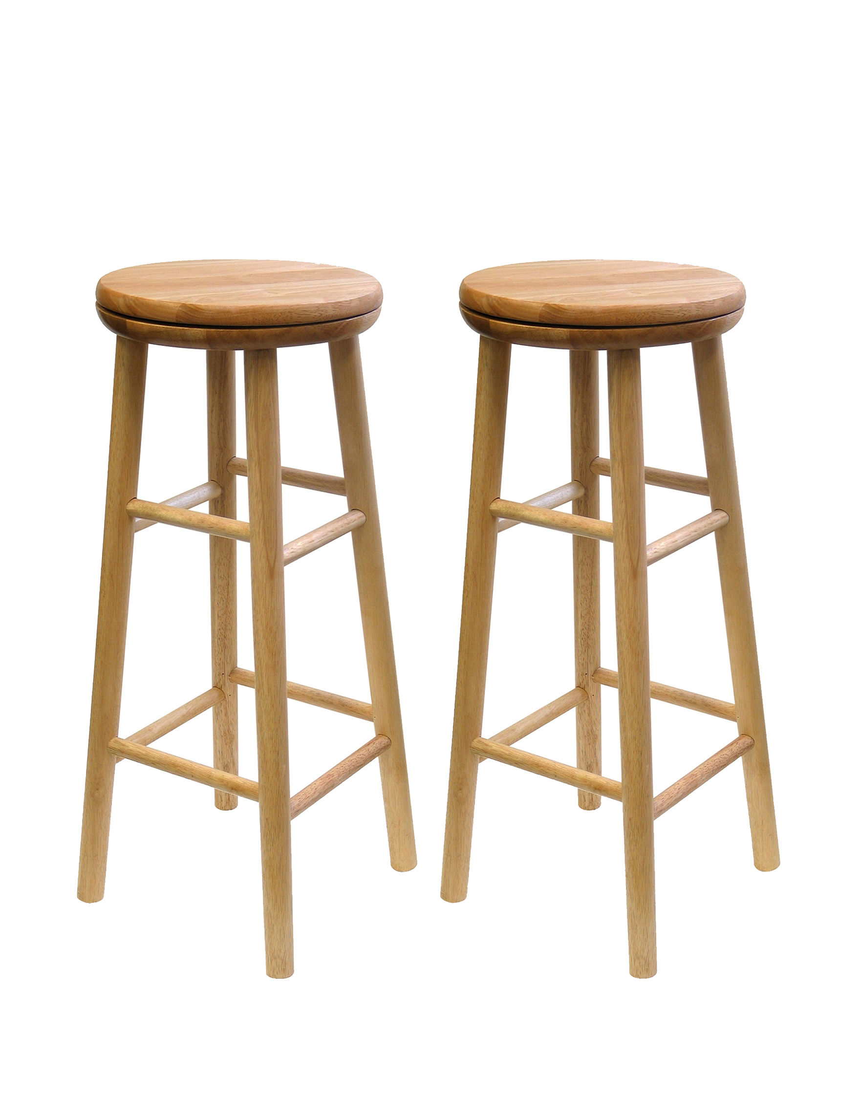 Winsome Set Of 2 Square Leg 30 Inch Swivel Stools Stage