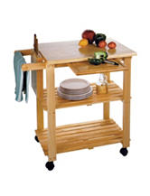 Winsome Natural Wood Kitchen Cart