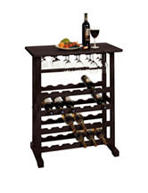 Winsome 24-Bottle Vinny Wine & Glass Rack