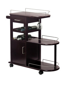 Winsome Chocolate Bar & Wine Storage Living Room Furniture