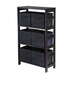 Winsome Espresso Cubbies & Cubes Living Room Furniture