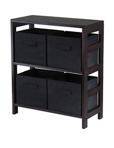 Winsome Espresso Bookcases & Shelves Kitchen & Dining Furniture