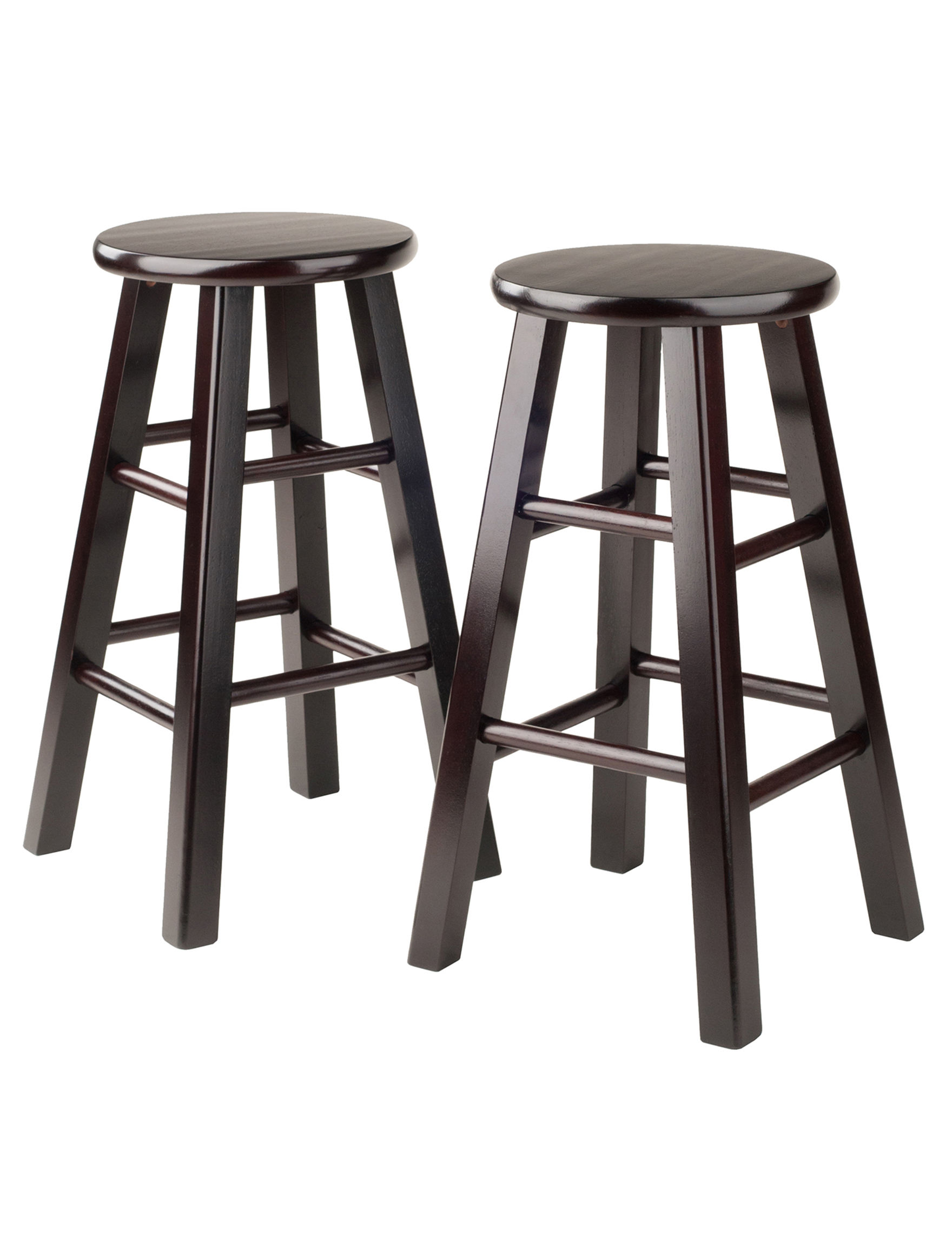 Winsome Set Of 2 Square Leg 24 Inch Stools Stage Stores