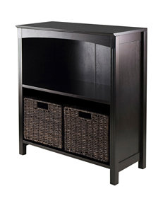 Winsome Chocolate Storage Shelves Living Room Furniture