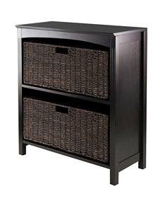 Winsome Chocolate Bookcases & Shelves Living Room Furniture