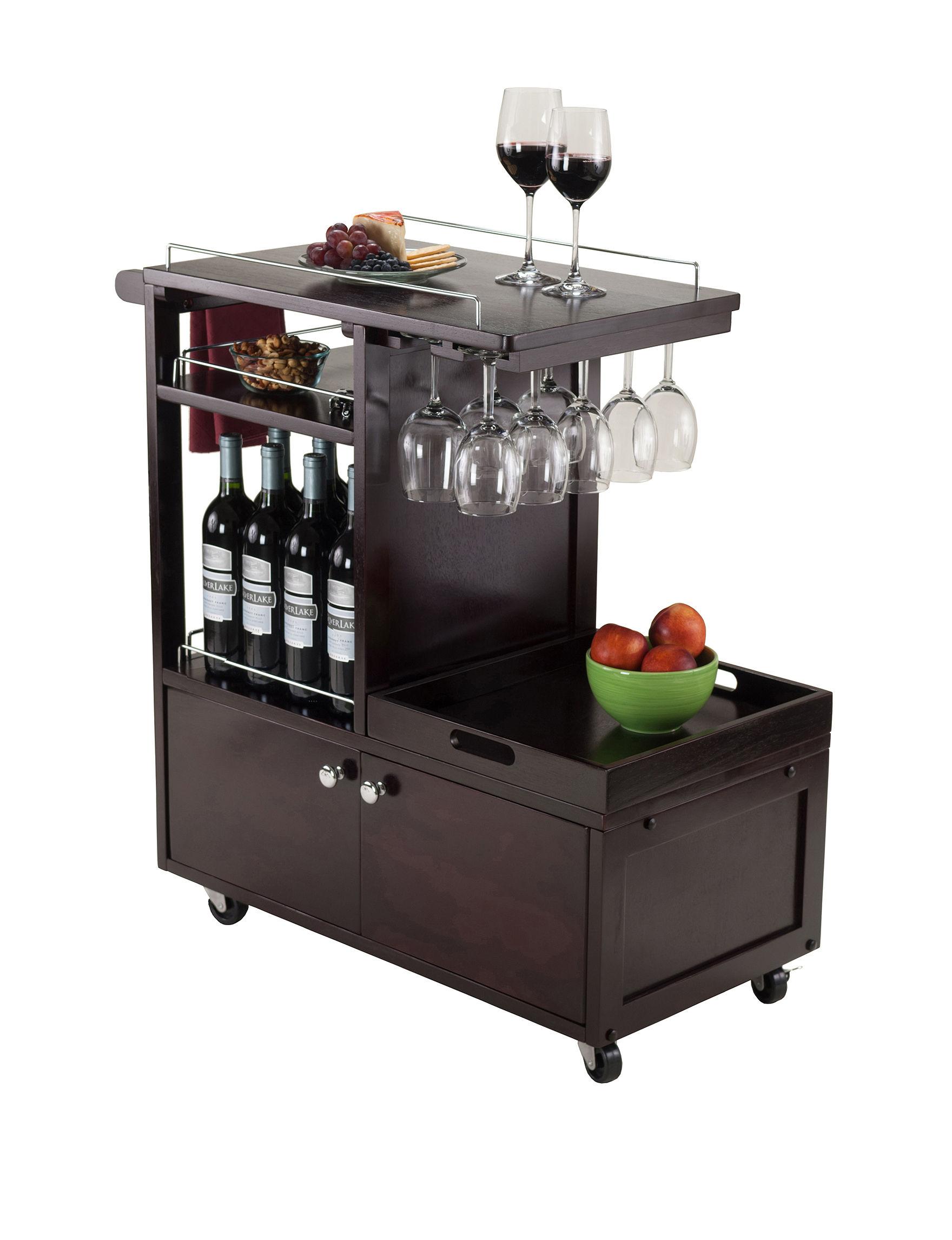 Winsome Brown Kitchen Islands & Carts Kitchen & Dining Furniture