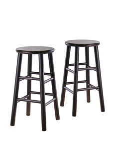 Winsome Set of 2 Bevel 24 Inch Seat Stools