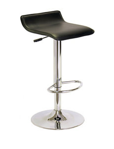 Winsome Single Airlift Black Swivel Stool