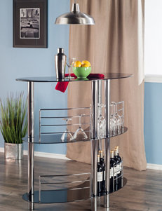 Winsome Black Bar & Wine Storage Living Room Furniture