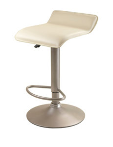 Winsome Single Airlift Beige Swivel Stool