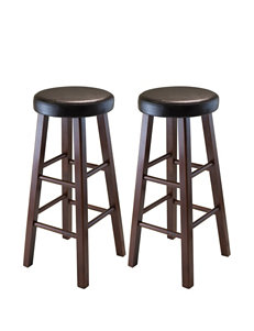 Winsome Set of 2 Marta Round Counter Stools
