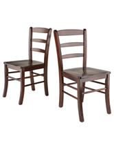 Winsome Set of 2 Ladder Back Chairs