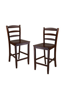Winsome Set of 2 Counter Ladder Back Chairs