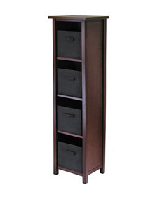 Winsome Brown Storage Shelves Home Office Furniture