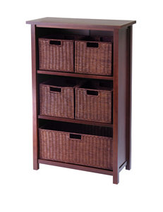 Winsome Brown Baskets Home Office Furniture