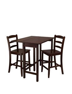 Winsome 3-pc. Lynnwood Drop Leaf High Table Set