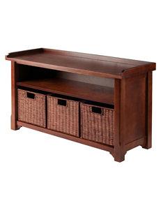 Winsome Storage Bench & Basket Set