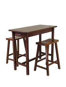 Winsome 3-pc. Kitchen Island Table & Stool Set