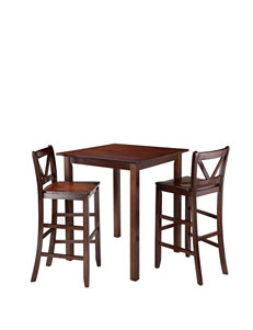 Winsome 3-pc. Parkland Table & V-back Stool Set