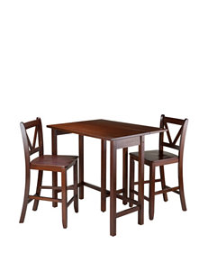 Winsome 3-pc. Lynnwood Drop Leaf High Table Set