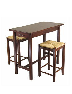Winsome 3-pc. Kitchen Island Table & Square Stools Set