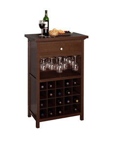 Winsome Brown Wine Racks Living Room Furniture