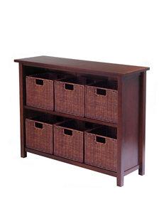 Winsome 7-pc. Milan Storage Shelf & Basket Set