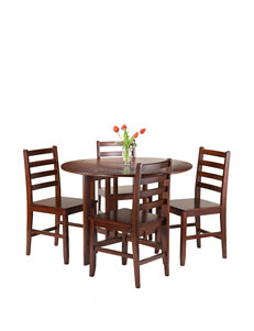 Winsome 5-pc. Alamo Round Drop Leaf Table & Chairs Set