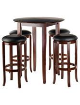 Winsome 5-pc. Fiona Round Pub Table Set