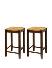 Winsome Set of 2 Rush Seat 24 Inch Stools