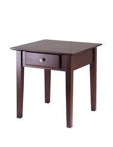 Winsome Brown Storage Shelves Living Room Furniture