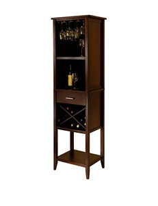 Winsome Dark Brown Bar & Wine Storage Living Room Furniture