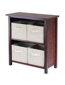 Winsome Wood Verona 3-Tier Storage Shelf with Baskets