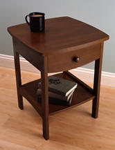 Winsome Wood Curved End Table