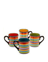 Certified International 4-pc. Tequila Sunrise Mug Set