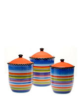 Certified International 3-pc. Tequila Sunrise Canister Set