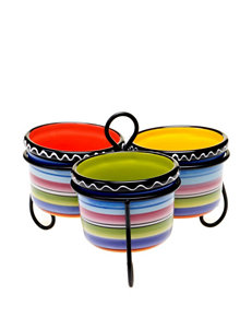 Certified International 4-pc. Tequila Sunrise Bowl Server with Stand Set