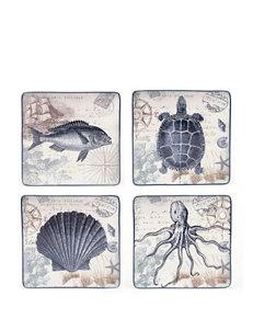 Certified International 4-pc. Coastal Postcards Dinner Plate Set