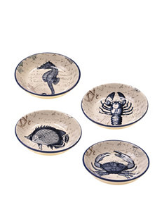 Certified International 4-pc. Coastal Postcards Soup Bowl Set