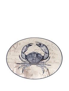 Certified International Coastal Postcards Oval Platter