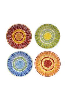Certified International 4-pc. Assorted Tapas Dessert Plate Set