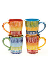 Certified International 4-pc. Assorted Tapas Mug Set