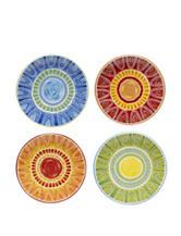 Certified International 4-pc. Assorted Tapas Canapé Plate Set