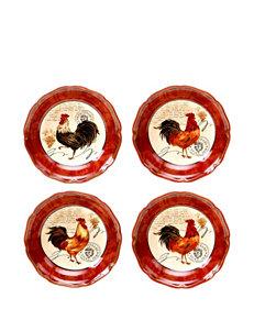 Certified International Red Bowls Dinnerware