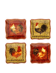 Certified International 4-pc. Tuscan Rooster Canapé Plate Set